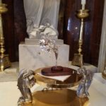 The Silver Rose on the Altar at Holy Rosary Church, Reading PA